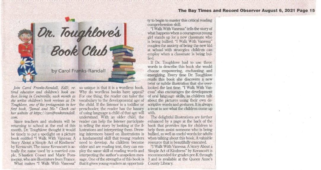 Dr. Toughlove's Book Club Column August 2021